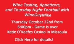 Football Wine Tasting Event