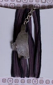 Wrap Silk Silver Embossed 175x280