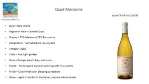 Qupé Marsanne