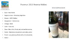 Puramun 2013 Reserva Malbec