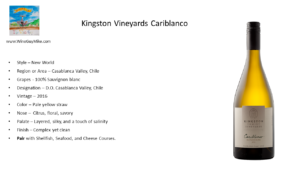 Kingston Vineyards 2016 Cariblanco Sauvignon blanc