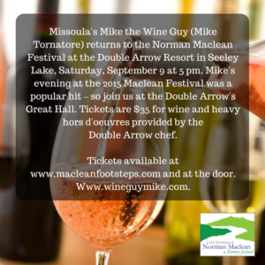Wine Guy Mike Wine Tasting at the Norman Maclean Festival