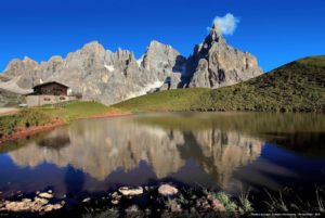 Dolomite Mountains and Lake Garda