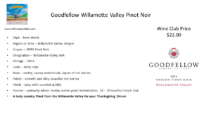 Good Fellow Cellars Pinot Noir