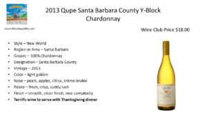 Qupe Santa Barbara Y - Block Chardonnay