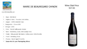 MARIE DE BEAUREGARD CHINON